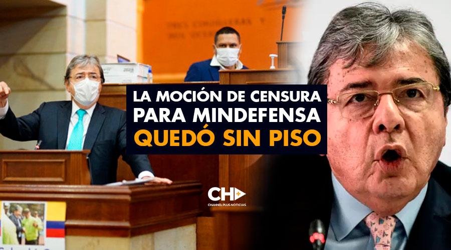La moción de censura para MinDefensa quedó sin piso