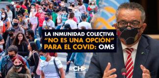 """La inmunidad colectiva """"no es una opción"""" para el COVID: OMS"""