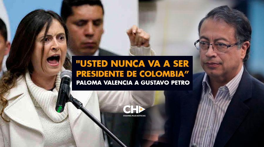 """Usted nunca va a ser presidente de Colombia, gracias a Dios"": Paloma Valencia a Gustavo Petro"