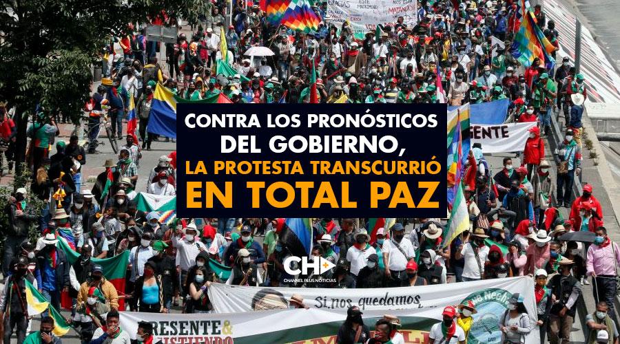 Contra los pronósticos del Gobierno, la protesta transcurrió en total paz