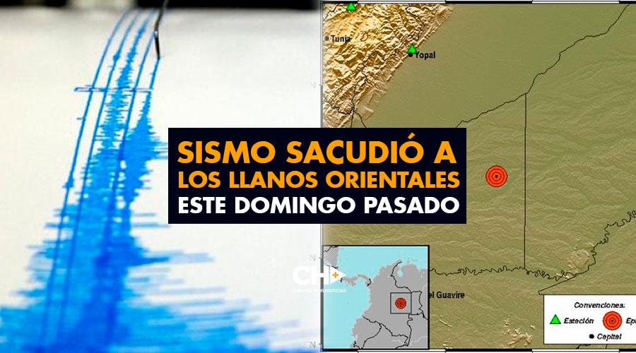 Sismo sacudió a los Llanos Orientales este Domingo pasado