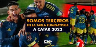 Somos TERCEROS en la tabla eliminatoria a Catar 2022