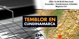 Temblor en Cundinamarca