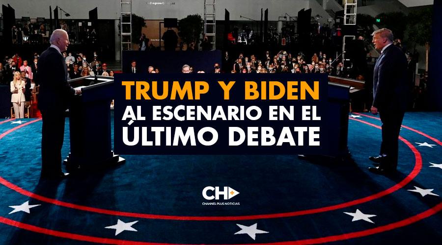 Trump y Biden al escenario en el último debate