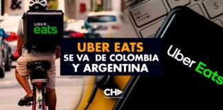 Uber Eats se va de Colombia y Argentina
