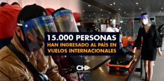 15.000 personas han ingresado al país en vuelos internacionales