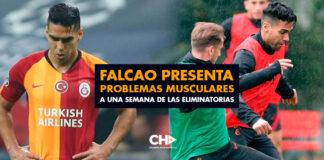 Falcao presenta problemas musculares a una semana de las Eliminatorias