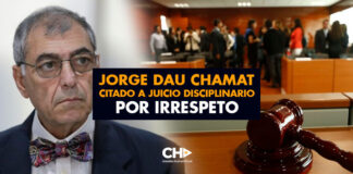 Jorge Dau Chamat citado a juicio disciplinario por irrespeto