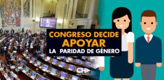 Congreso decide apoyar la paridad de género