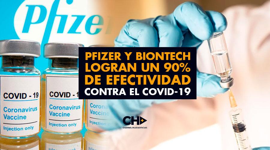 Pfizer y BioNTech logran un 90% de efectividad contra el COVID-19
