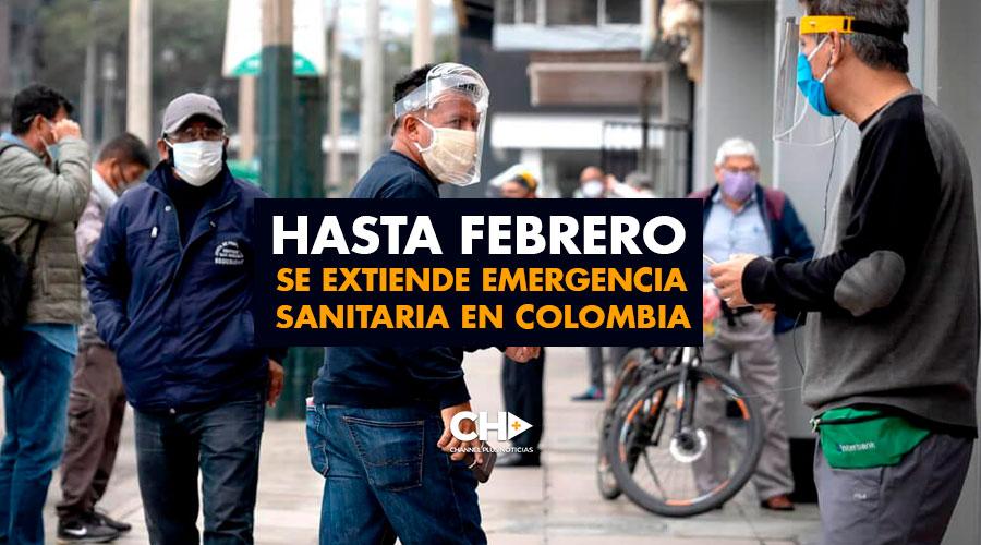 Hasta Febrero se extiende emergencia sanitaria en Colombia