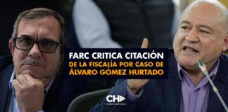 Farc critica citación de la Fiscalía por caso de Álvaro Gómez Hurtado