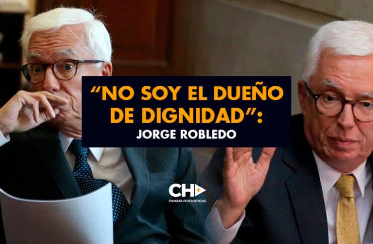 """""""No soy el dueño de Dignidad"""": Jorge Robledo"""