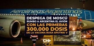 Despega de Moscú rumbo a Argentina el avión con las primeras 300.000 dosis de la vacuna rusa Sputnik V