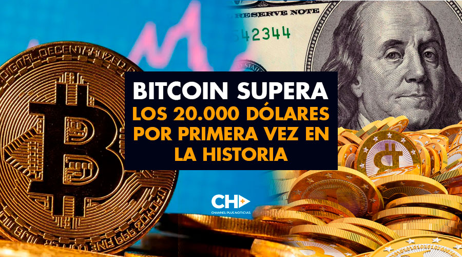 Bitcoin supera los 20.000 dólares por primera vez en la historia