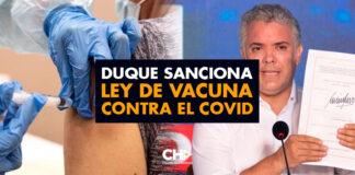 Duque sanciona ley de vacuna contra el Covid para el 2021