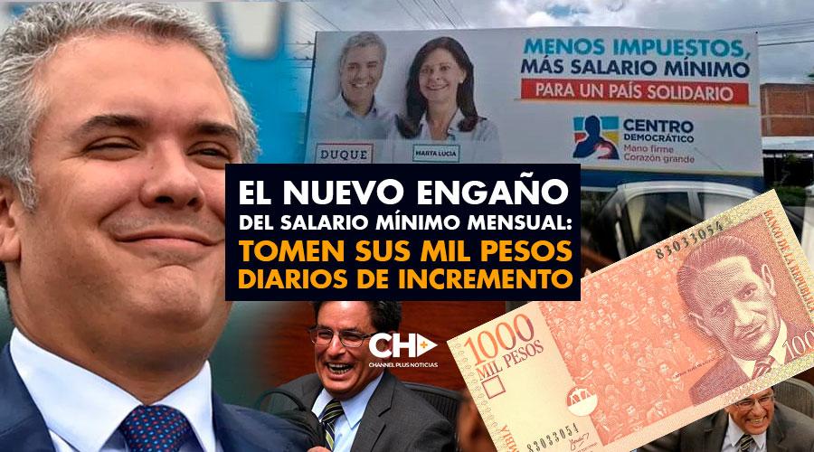 El Nuevo engaño del Salario Mínimo Mensual: Tomen sus mil pesos diarios de incremento