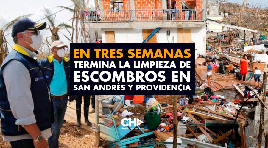 En TRES semanas termina la limpieza de escombros en San Andrés y Providencia