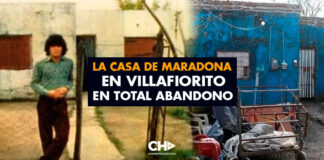 La casa de Maradona en Villafiorito en total abandono