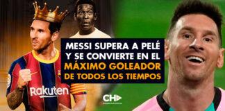 Messi supera a Pelé y se convierte en el máximo goleador de todos los tiempos