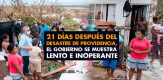 21 días después del desastre de Providencia, el gobierno se muestra lento e inoperante