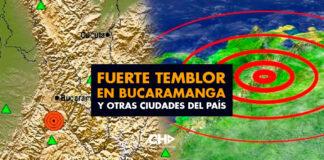 Fuerte temblor en Bucaramanga y otras ciudades del país