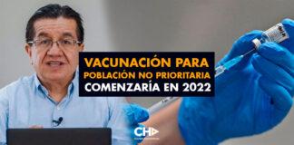 Vacunación para población no prioritaria en Colombia comenzaría en 2022