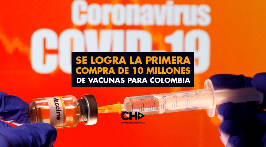 Se logra la primera compra de 10 millones de vacunas para Colombia