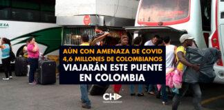 Aún con amenaza de COVID 4,6 millones de colombianos viajarán este puente en Colombia