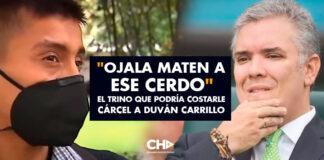 """""""Ojala Maten a ese Cerdo"""" el trino que podría costarle cárcel a Duván Carrillo"""