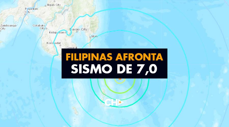 Filipinas afronta sismo de 7,0