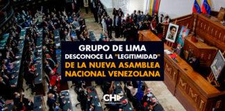 """Grupo de Lima desconoce la """"legitimidad"""" de la nueva Asamblea Nacional venezolana"""