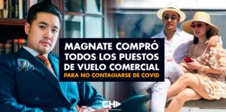 Magnate compró todos los puestos de vuelo comercial para no contagiarse de COVID-19
