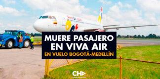 Muere pasajero en VIVA AIR en vuelo Bogotá-Medellín
