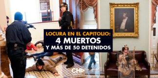 Locura en el Capitolio: 4 Muertos y más de 50 detenidos