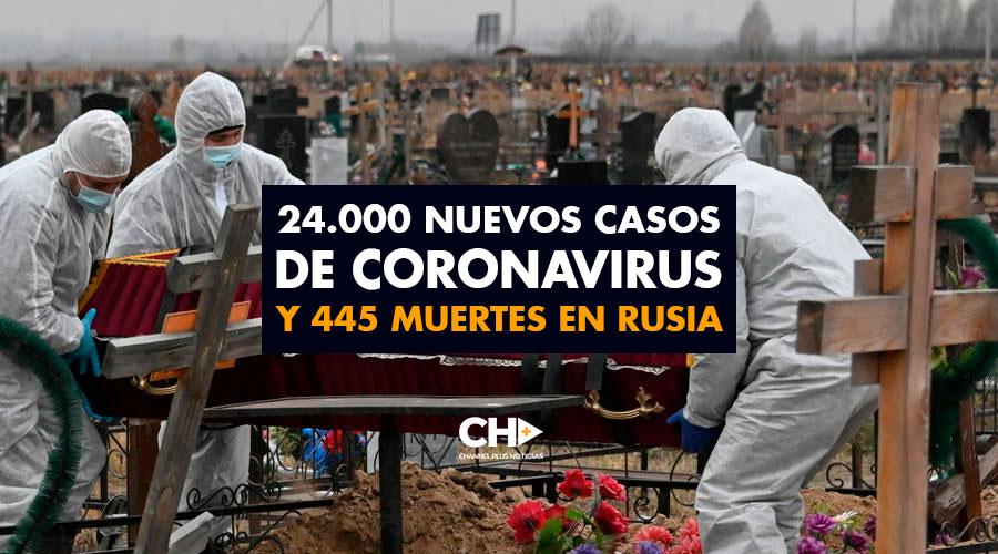 24.000 Nuevos casos de coronavirus y 445 muertes en RUSIA