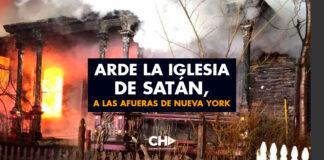 Arde la Iglesia de Satán, a las afueras de Nueva York
