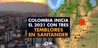 Colombia inicia el 2021 con TRES temblores en Santander