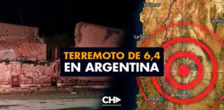 Terremoto de 6,4 en Argentina