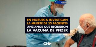 En Noruega investigan la muerte de 23 pacientes ancianos que recibieron la vacuna de Pfizer