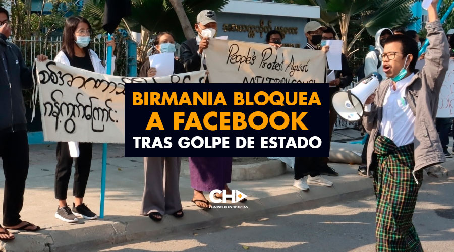 Birmania bloquea a Facebook tras Golpe de Estado