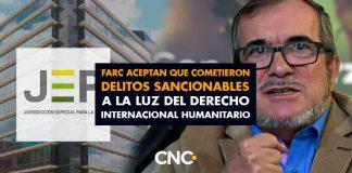 Farc aceptan que cometieron delitos sancionables a la luz del Derecho Internacional Humanitario