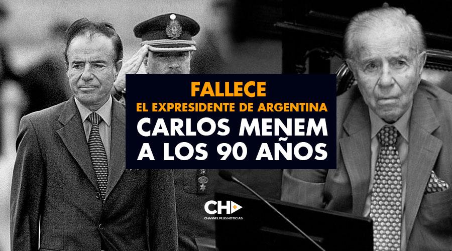 Fallece el expresidente de Argentina Carlos Menem a los 90 años