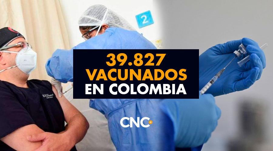 39.827 Vacunados en Colombia