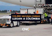 """192.000 vacunas Chinas llegan a Colombia. Ya tenemos 242.000, aunque no se sabe qué pasó con 208 que se """"perdieron"""""""
