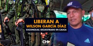 Liberan a Wilson García Díaz exconcejal secuestrado en Cauca