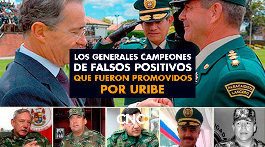 Los generales campeones de FALSOS POSITIVOS que fueron PROMOVIDOS por Uribe