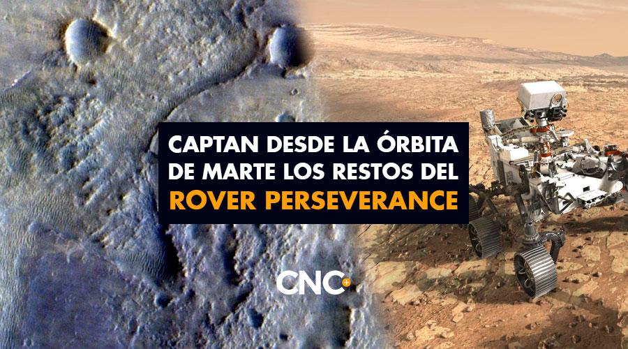 Captan desde la órbita de Marte los restos del Rover Perseverance