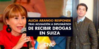 Alicia Arango responde tras acusación a diplomático de recibir drogas en Suiza