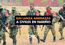 ELN lanza amenazas a civiles en Nariño